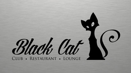 Projekt logo Black Cat Cafe